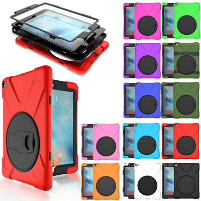 For Apple iPad 9.7 Mini Air Pro Screen Protector Shockproof Hybrid Case Cover