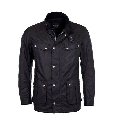 Barbour International Mens Duke Wax Jacket - Black - Large -  Brand New & Tags