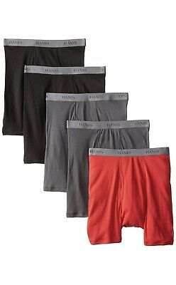 Hanes Tag less Boxer Briefs 5 Pack Mens Assorted Colors & Bands!!