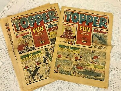 Two vintage The Topper comic newspaper issue's 1252 and  1244