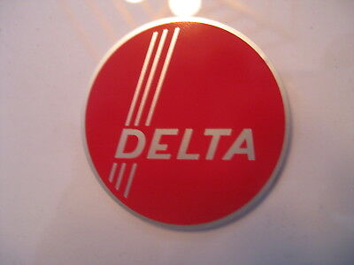 """2"""" DELTA THREE STRIPE DECAL- for vintage Delta machinery - badge, nameplate, tag"""