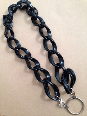 LA LOOP LALOOP Sterling Silver 925 black acetate Eyeglass holder Necklace