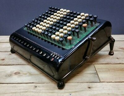 Burroughs Calculator Adding Machine 1915 WORKING 13 Column Mechanical Class 5