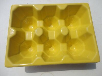 Mid Century Modern Art Deco Egg Holder Display Vintage Kitchen Yellow Easter