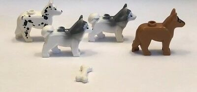 LEGO lot of 2 Husky Dog Minfigure Minifig Pet Animal New