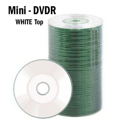 100 PACK DVD-R  mini  3-Inch  Top 24X 8cm  (NO Sleeves)  WHITE  Top