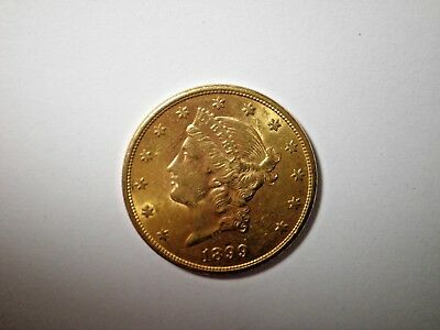 1899s  $20 Gold Liberty Head Double Eagle  GEM+++Value 1,875