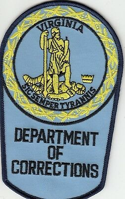Virginia Department Of Corrections Doc Police Patch Va Lb