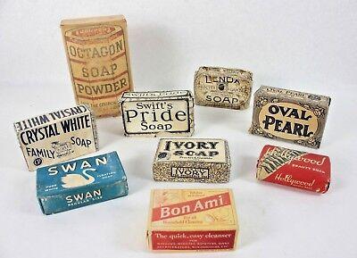Lot of Vintage Soap Bars Detergent Advertising Collectible