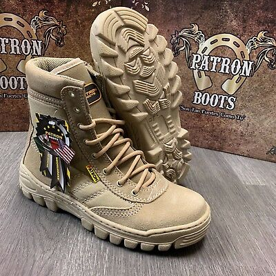 Men's Work Boots Combat Tactical Slip Resistant Military Style Heavy Duty Sand
