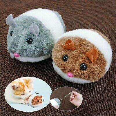 Motor Toy Mouse for Cats Mechanical Robot Plush Fur Mice Toys Movement Vibrating