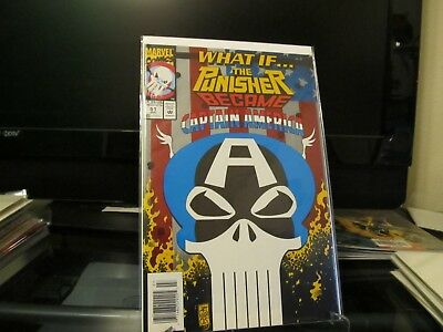 What If #51 The Punisher Became Captain America Marvel 1993 Comic Book