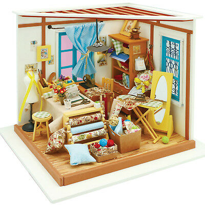 Robotime DIY Miniature Sewing/Quilting Room Model Kit