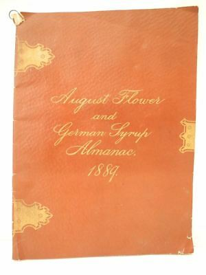 1889 Antique Advertising Almanac Booklet August Flower and German Syrup