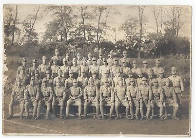 WW2 Japanese Army Platoon Photograph Soldiers In Uniform Equipment Japan