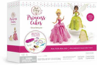 Real Cooking Princess Cakes Deluxe Baking Set Kids Kit DIY Educational Birthday