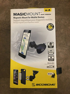Scosche - MagicMOUNT Dash-Window Magnetic Holder for Mobile Phones - SHIPS ASAP!