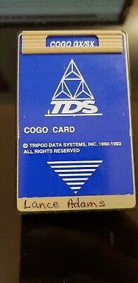 TDS COGO Card GX/SX Survey Tool HP 48GX
