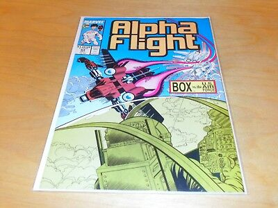 Alpha Flight #63 (Oct 1983, Marvel) BOX Vs. the US Air Force