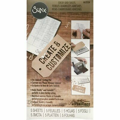 Tim Holtz Sticky Grid Sheets by Sizzix - Small - 5 Pieces