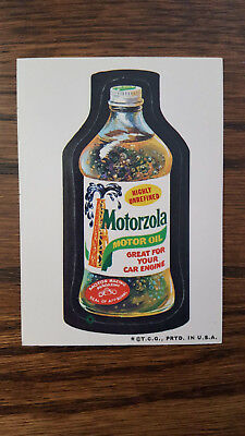 1973 Original Wacky Packages 3rd series Motorzola white back