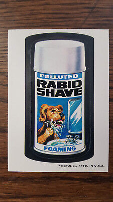1973 Original Wacky Packages 3rd series Rabid Shave white back