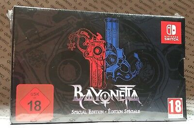 Bayonetta Special Edition Nintendo Switch (1+2, SteelBook, Stickers, Cards) EUR