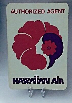 Vintage Hawaiian Airlines Authorized Agent Airline issued Rare Aviation Sticker