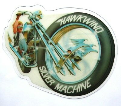 EX/EX Hawkwind Silver Machine Shaped Vinyl Picture Pic Disc Lemmy Motorhead