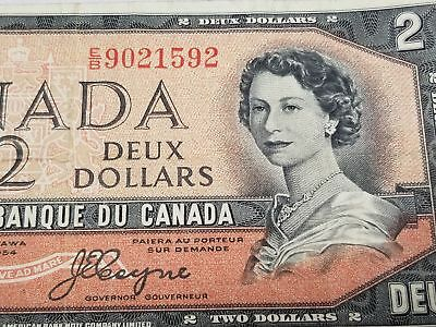 Canada 1954 One Dollar $ DEVILS HAIR Variety 367b 125-1