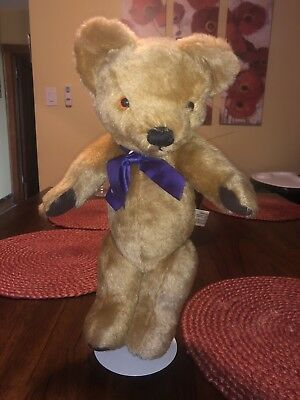 "Vintage 16"" Merrythought Jointed Mohair Teddy Bear Made In England"