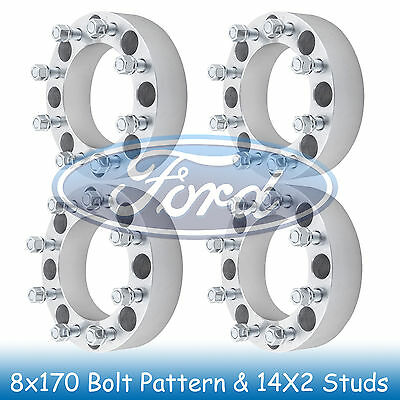 8x170 Wheel Spacers for F250 Super Duty (Only M14x2.0) 2005-2012 2013 2014 2015