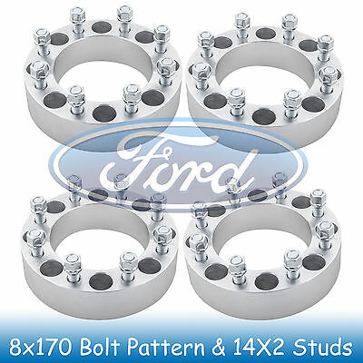"4)8x170 to 8x170 Wheel Spacers 2"" Thick for Ford Excursion 1999 2000 2001 2002"