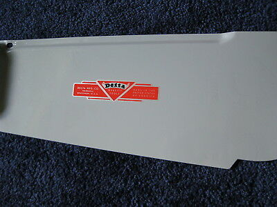 DELTA LOGO DECAL  -  for vintage Delta machinery - badge, nameplate, or tag
