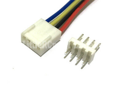 10 SET 2510 2.54mm 4-Pin Female Connector 400mm 22AWG wire Male Straight Header