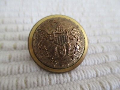 VERY RARE Pre-Civil War Gold Uniform Button Kendrick & Co. Waterbury Conn.