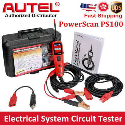 Autel PowerScan PS100 Electrical System Circuit Tester 12/24V Car Diagnosis Tool