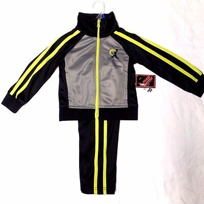 NWT - Boy's Toddler Black Jacket & Pants Athletic Warm-Up Suit/Outfit  size 2T