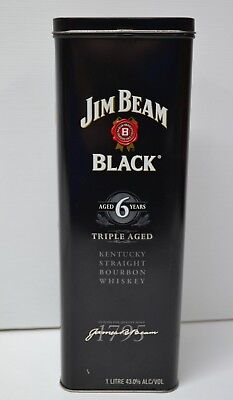 Jim Beam Black Triple Aged 6 Years Kentucky Bourbon Whiskey 1L Collectors Tin