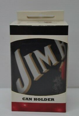 Jim Beam Bourbon Authentic Brand New Boxed Black Stubby Can Holder