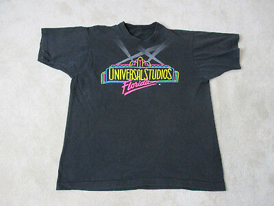 VINTAGE Universal Studios Florida Shirt Adult Large Black Theme Park Mens 90s *