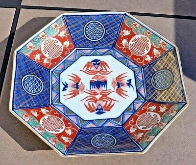 Antique Japanese Imari Arita Hand-Painted Large Porcelain Plate