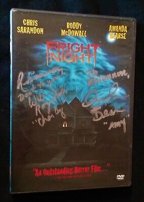 Fright Night Autographed Dvd Amanda Bearse William Ragsdale