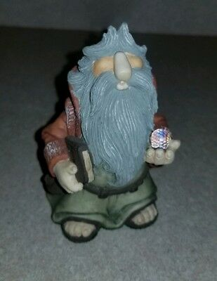 1988 Krystonia S Rueggan Panton Wizard Crystal Ball Made in England Figurine