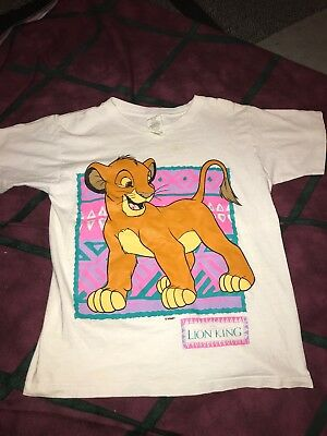 VTG 90s THE LION KING YOUTH Graphic T SHIRT MOVIE DISNEY SIMBA USA Made