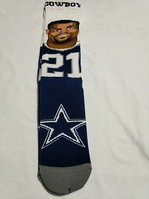 6f69bd85a FOR BARE FEET Ezekiel Elliott Dallas Cowboys Selfie Socks - $10.99 ...