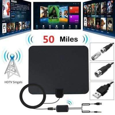TV Antenna HD Digital Indoor Television HDTV Electronic Over The Air Range Fox