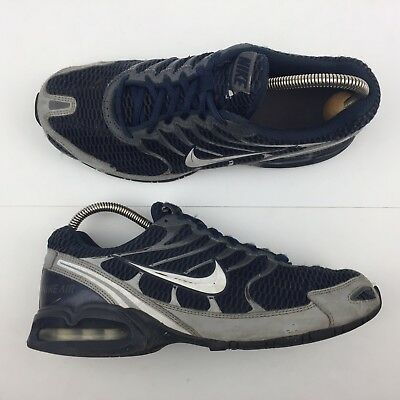 8ecdd02aad7 Nike Air Max Torch 4 Navy Running Shoes Silver Sneakers 343846-411 Mens  Size 8.5