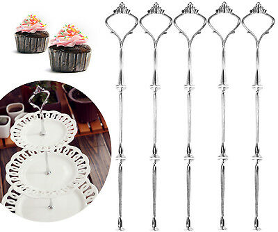 5X3 Tier Silver Color Wedding Party Cake Plate Stand Center Handle Fitting MS