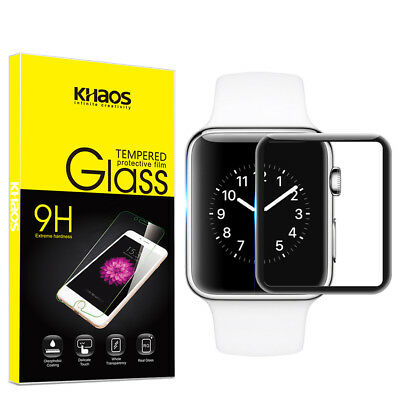 Khaos For Apple watch4 44mm 3D Full Cover Tempered Glass Screen Protector -Black